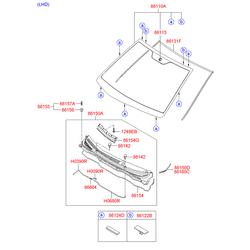 Проставка лобового стекла (Hyundai-KIA) 861271J000