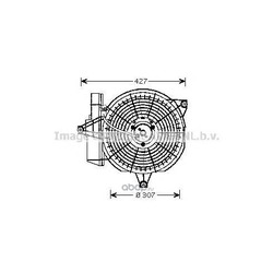 Вентилятор, конденсатор кондиционера (Ava) HY7515
