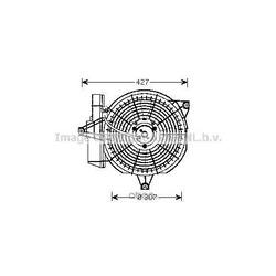 Вентилятор, конденсатор кондиционера (Prasco) HY7515