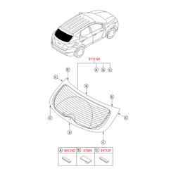 Фиксатор стекла багажной двери (Hyundai-KIA) 871143J000