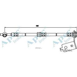 Тормозной шланг (APEC braking) HOS3570