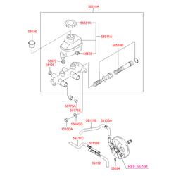 Обратный клапан тормозной системы (Hyundai-KIA) 5877525000A