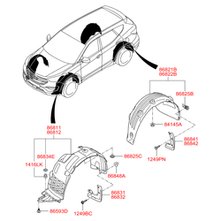 Деталь (Hyundai-KIA) 868412W500