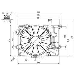 Вентилятор охлаждения двигателя (Wilmink Group) WG1720509