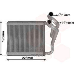 Теплообменник, отопление салона (VAN WEZEL) 82006270