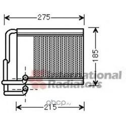 Теплообменник, отопление салона (VAN WEZEL) 82006213