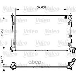 Радиатор системы охлаждения (Valeo) 735564