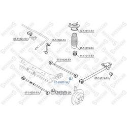 Подвеска, рычаг независимой подвески колеса (Stellox) 8751052SX