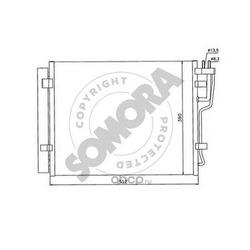 Конденсатор, кондиционер (SOMORA) 138060A
