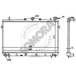 Радиатор, охлаждение двигателя (SOMORA) 132040