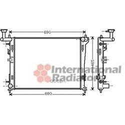 Радиатор, охлаждение двигателя (Schlieckmann) 60822180