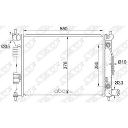 Радиатор (Sat) SGHY00011