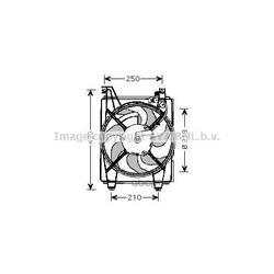Вентилятор, конденсатор кондиционера (Prasco) HY7518