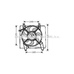 Вентилятор охлаждения двигателя (Prasco) HY7512