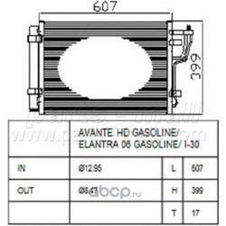 Радиатор кондиционера (Parts-Mall) PXNCA082
