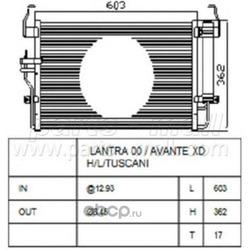 Радиатор (Parts-Mall) PXNCA072