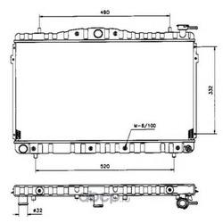 Радиатор системы охлаждения МКПП (NRF) 53504