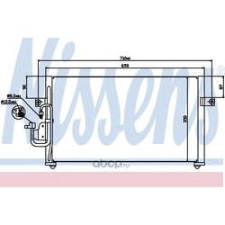 Радиатор кондиционера (Nissens) 94037