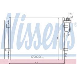 Радиатор кондиционера (Nissens) 940007
