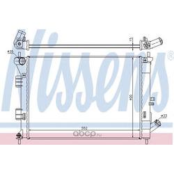 Радиатор системы охлаждения (Nissens) 67555