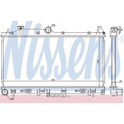 Радиатор двигателя (Nissens) 66676