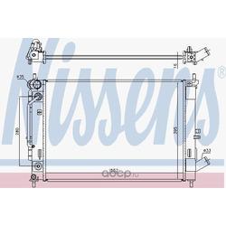 Радиатор, охлаждение двигателя (Nissens) 606476