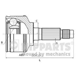 Шрус наружный комплект (Nipparts) N2820524