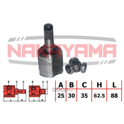 Шрус внутренний (комплект) (NAKAYAMA) NJ7135NY