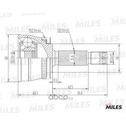 Шрус наружный (комплект) (Miles) GA20552