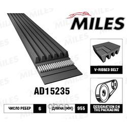 Ремень поликлиновой (Miles) AD15235