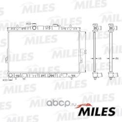 Радиатор (Miles) ACRB353