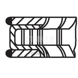 Комплект поршневых колец (Mahle/Knecht) 68109N0
