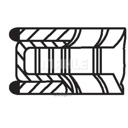 Комплект поршневых колец (Mahle/Knecht) 68106N0