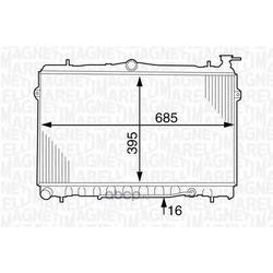 Радиатор, охлаждение двигателя (MAGNETI MARELLI) 350213123900