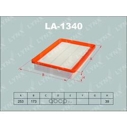 Фильтр воздушный (LYNXauto) LA1340