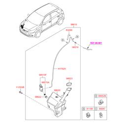 Насос фароомывателя (Hyundai-KIA) 985103W000