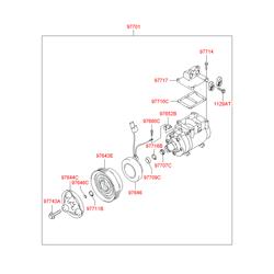 Компрессор кондиционера (Hyundai-KIA) 977012C000