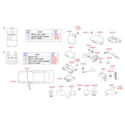 Реле поворотов (Hyundai-KIA) 9555034000