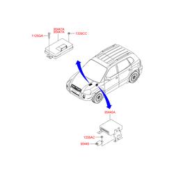 Реле 12В, 13А (Hyundai-KIA) 9544539058