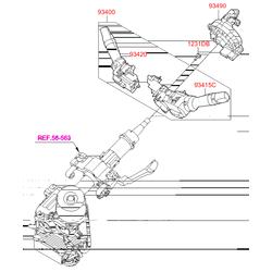 Кольцевая контактная группа рулевой колонки (Hyundai-KIA) 934902V310