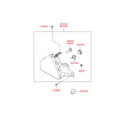 Заглушка пластиковая (Hyundai-KIA) 921913B000