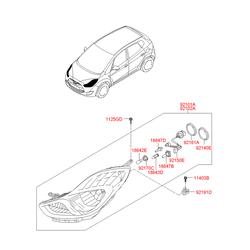 Заглушка пластиковая (Hyundai-KIA) 921911K000