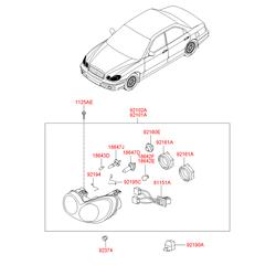 Кожух фары (Hyundai-KIA) 9214034550