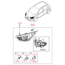 Заглушка пластиковая (Hyundai-KIA) 921402D000