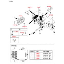 Токораспределительная коробка (Hyundai-KIA) 919501H510