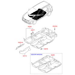 Фиксатор напольного покрытия багажного отсека (Hyundai-KIA) 8532521000WK