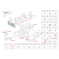 Заглушка кузова (Hyundai-KIA) 841361D100