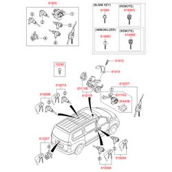 Заготовка ключа (Hyundai-KIA) 819962H010