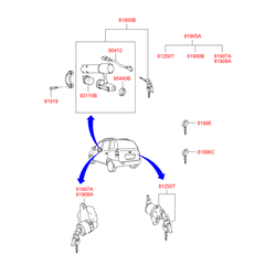 Заготовка ключа (Hyundai-KIA) 8199629000