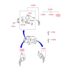 Заготовка ключа (Hyundai-KIA) 8199625010